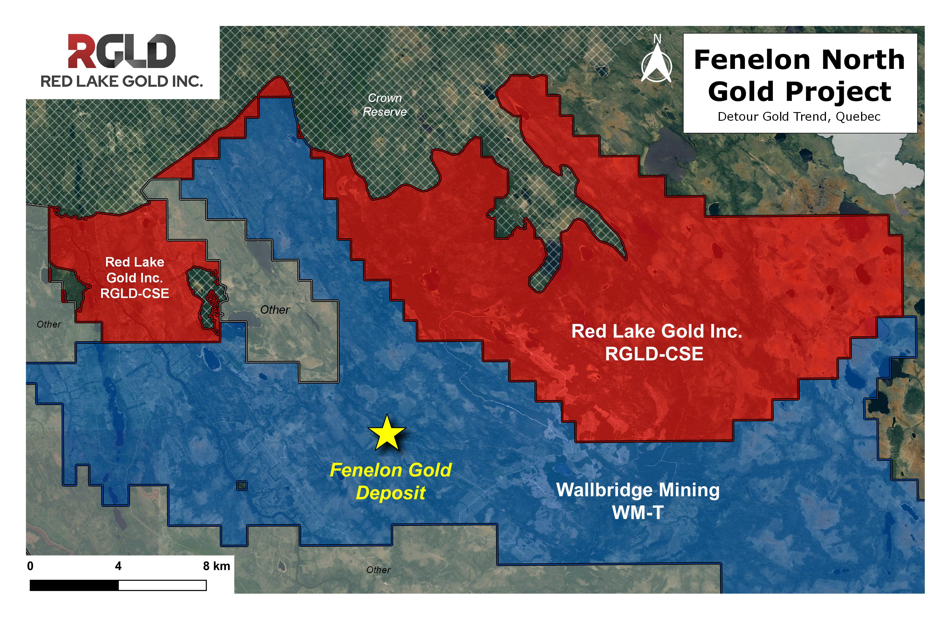 Figure 1: Map of the Expanded Fenelon North Gold Project