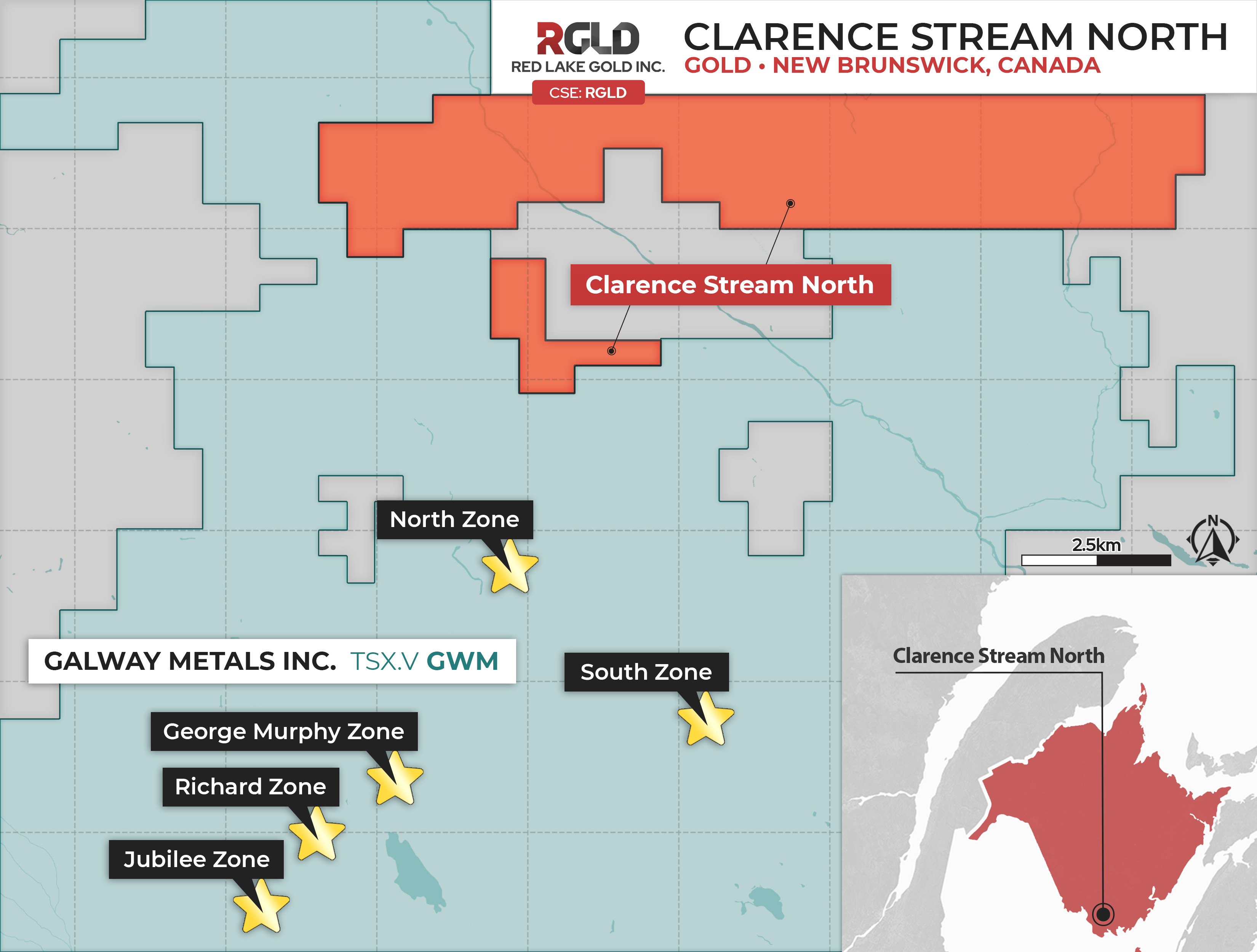 Figure 1: Clarence Stream North Gold Project - Map